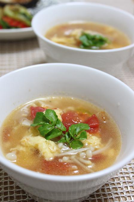 ■えのきと玉子のスープ