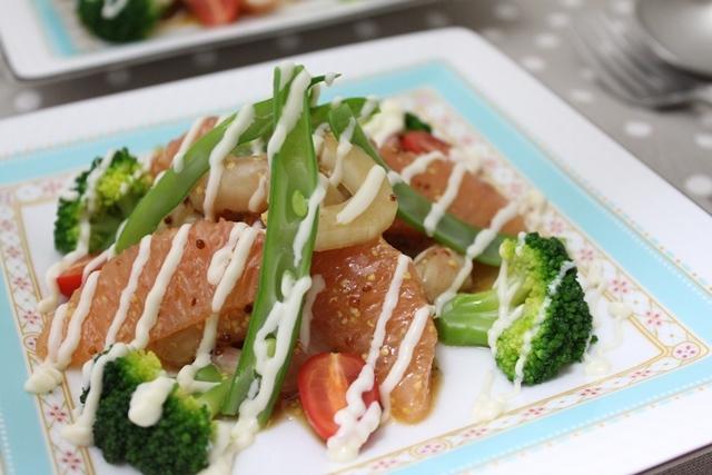 ■甘海老とグレープフルーツのサラダ  ~チャレンジDay26~