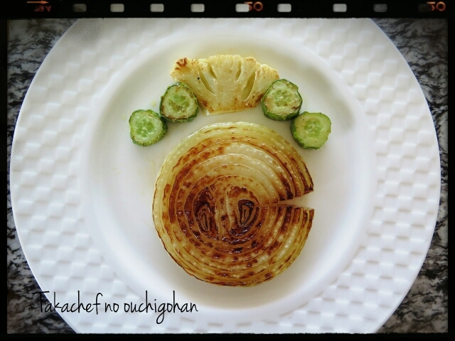 ■今朝のあさごはん。~玉ねぎのステーキ~