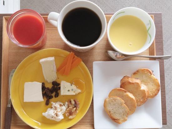 【朝ごはん】今日も、チーズ!