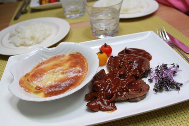 昨日の晩御飯  ~牛ひれ肉のステーキきのこソース