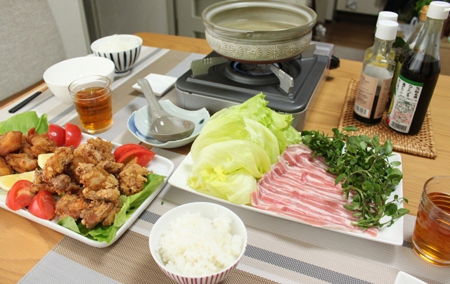 ■クレソン、レタス鍋。