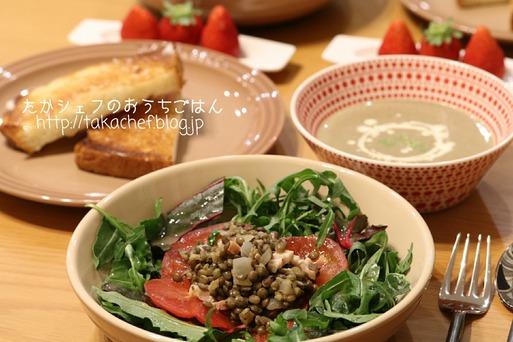 【料理】料理ブロガーになれないあたし。と、レンズ豆な晩ごはん。