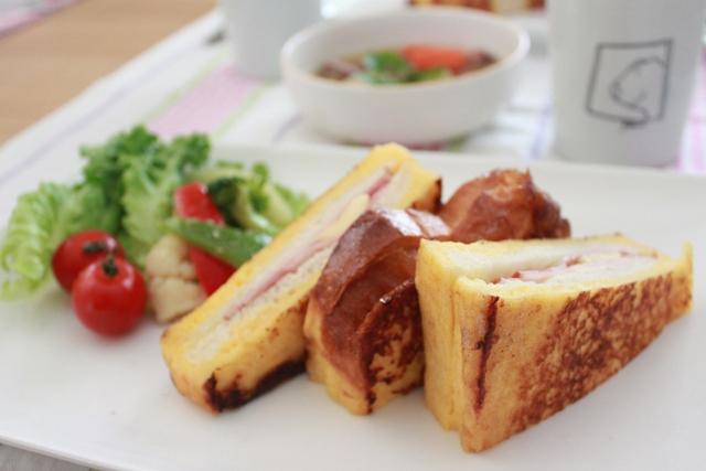 ■フレンチトースト で朝ごはん。
