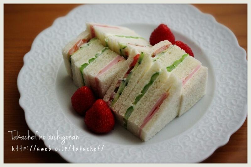 野菜サンド 夜中のおやつ