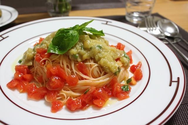 たかシェフのおうちごはん。-茄子とトマトのカペリーニ