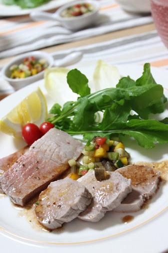 ■茹で豚肉の野菜とバルサミコのソース ~意識消失してみる~