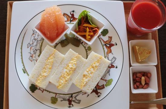 【料理】たまごサンド朝ごはん。