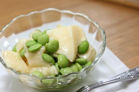 ■だだちゃ豆 玉子豆腐