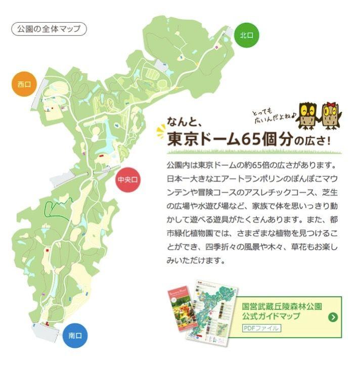 森林公園の地図