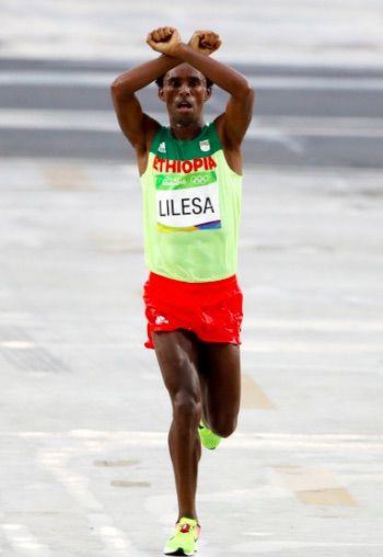 リオ五輪マラソンでのエチオピア人
