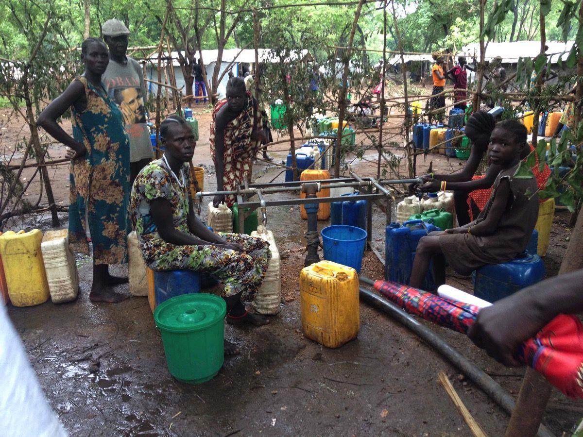 ガンベラの南スーダン難民キャンプ