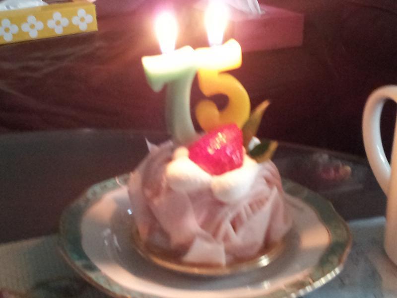 75歳のケーキ