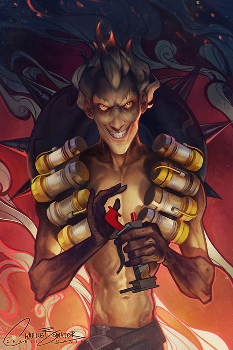 junkrat___21_days_of_overwatch__by_charlie_bowater-da2bxww