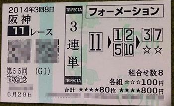 宝塚記念,3連単