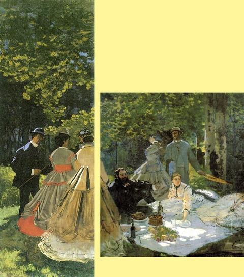 W 63-1 & 63-2 CM 1865 Le dejeuner sur l'herbe pa