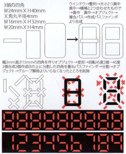 Illustratorでデジタル文字を描く