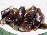 秋茄子の煮物.