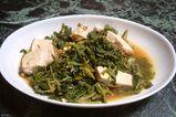 豆腐と大根菜