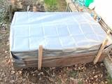 堆肥にシート掛け