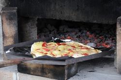 イチゴピザ焼き
