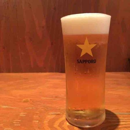 裏参道牛肉店 ビール
