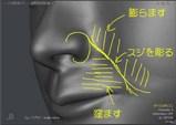 頬と上唇の加工方針