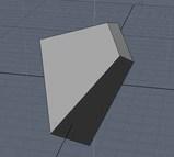 円錐を切り抜く立方体