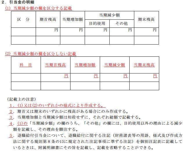 JICPA 「計算書類に係る附属明細...