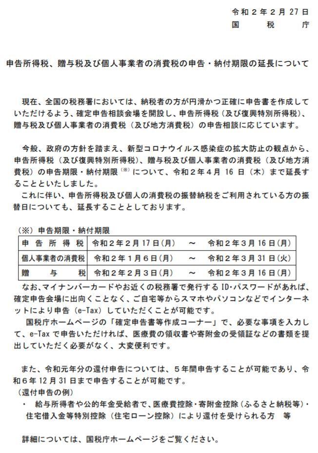 消費 税 申告 期限