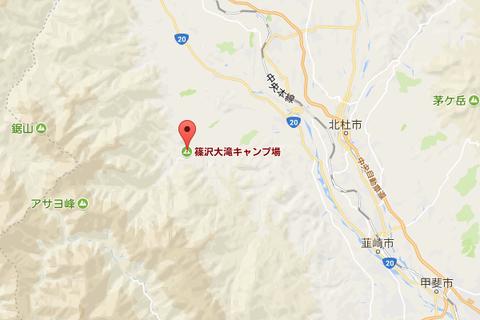 篠沢大滝キャンプ場map01