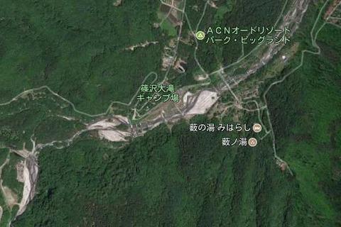 篠沢大滝キャンプ場map03