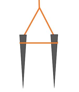 ペグ_三角打ち