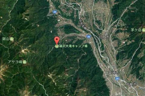 篠沢大滝キャンプ場map02
