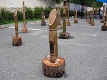 110730湯西川標準タイプ竹灯籠