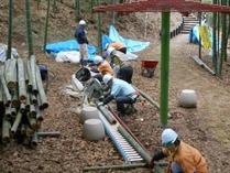縮小国際 3月 竹灯籠製作