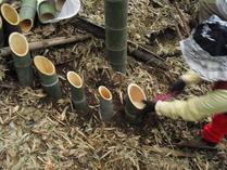 竹灯籠設置
