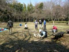 080309第9回竹林管理コース 筍の保護竹札作り2