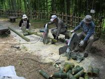 竹灯籠作り2