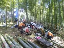 140914竹灯籠製作1