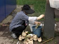 080721竹皿と箸の完成洗浄