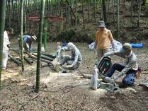 竹灯籠作り1