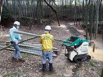 200317間伐竹チップ化処理