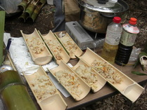 080608竹皿に盛られた竹の子飯