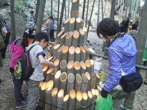 小机竹灯籠 着火