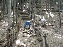 080601竹灯籠の処理作業