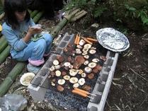 090215昼食シイタケ焼き