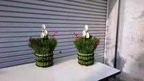 縮小 ミニ ペール缶&半割り竹巻き (3)