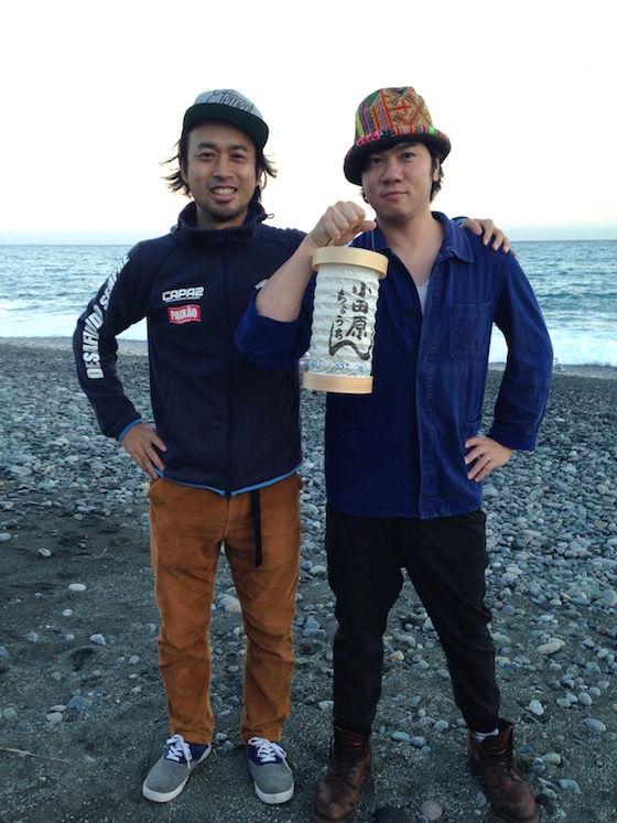 雅史とmiya、海辺