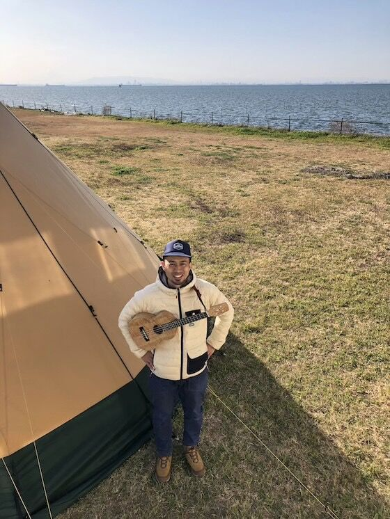 テントと海